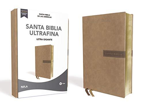 Compare Textbook Prices for NBLA Santa Biblia Ultrafina, Letra Gigante, Leathersoft, Beige, Edición Letra Roja Spanish Edition Larger Print Edition ISBN 0639390770141 by NBLA-Nueva Biblia de Las Américas