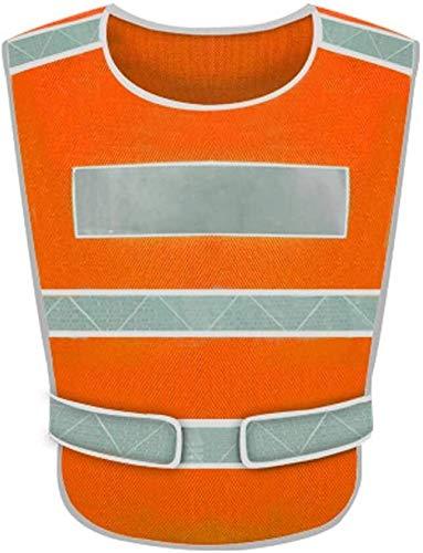 Samantha Safety Vest Chalecos reflexivos Chaleco Protector de Seguridad Viaje de Falla del tráfico en la Noche Chaqueta de Ropa Fluorescente (Size : X-Large)