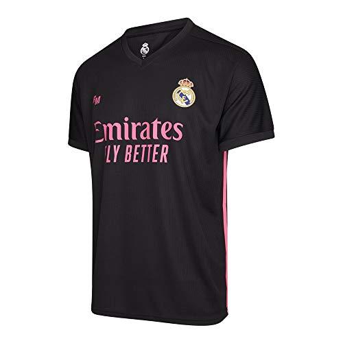 Camiseta Oficial del Real Madrid para Hombre, 2020/2021, Manga Corta, para Entrenamiento de fútbol - Primera, Segunda y Tercera