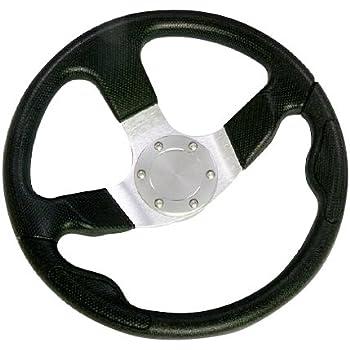 Woqi WH003 Three Spoke Marine Steering Wheel for Sailboat