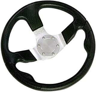 Woqi WH003 Three Spoke Marine Steering Wheel for Sailboat