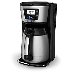 12-Cup Thermal Coffeemaker, Black/Silver