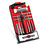 Real Avid Hammer & Long Punches Set I Gunsmithing Tools Set with Small Hammer, Roll Pin Punch & Flat Tip Metal Punch Set I Tool Kit with Gunsmithing Hammer with 4 Tips, Non Marring Punch & Pin Starter