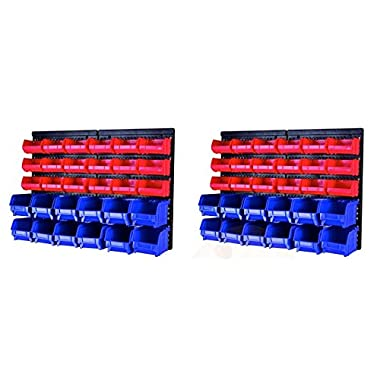 MaxWorks 80839 30-Bin Wall Mount Storage Rack - 2 Pack