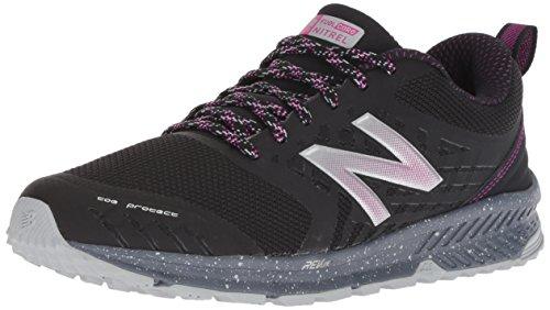 New Balance Women's Nitrel v1 FuelCore Trail Running Shoe, Black/Poison Berry, 12 D US