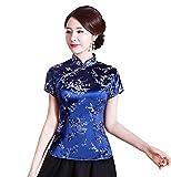 Shanghai Story Chinese Cheongsam Top Short Sleeve Qipao Blouse for Women 10 Bl