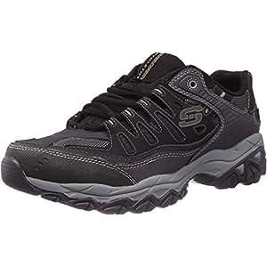 Skechers mens Afterburn M. Fit fashion sneakers, Black, 12 US