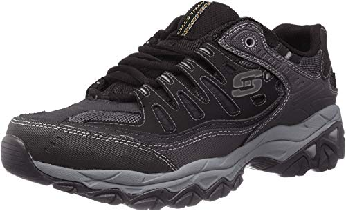 Skechers mens Afterburn M. Fit fashion sneakers, Black, 8.5 US