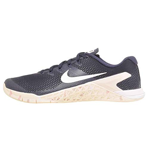 Nike Women's Metcon 4 Running Shoe (9 B US, Obsidian/White/Guava Ice/Storm Pink)