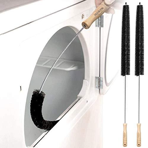 Holikme 2 Pack Dryer Vent Cleaner Kit Dryer Lint Brush Vent Trap Cleaner Long Flexible Refrigerator Coil Brush
