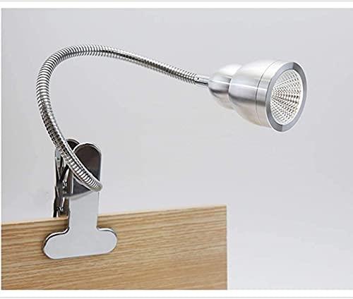 JYHW Lámpara de escritorio multifuncional LED clip en la luz de lectura libro luz clip en la luz USB recargable lámpara de cama, atenuación infinita lámpara de mesa de dormitorio oficina