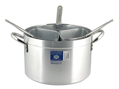 PARDINI Casseruola Alluminio Alta Tre Spicchi 2 Pentole e Preparazione Cucina, Grigio, 38 cm