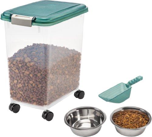 Buy Discount IRIS Airtight Pet Food Storage Starter Kit, Green