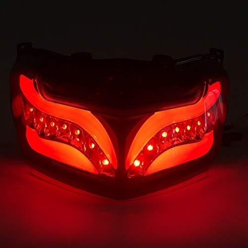 Indicador LED de flujo dinámico Lámpara de parada de tapa trasera de la luz trasera Lámpara de señal de giro trasera integrada for Yamaha Nmax 155 125 NMAX155 NMAX125 2016-2019 Scooter ( Color : Red )