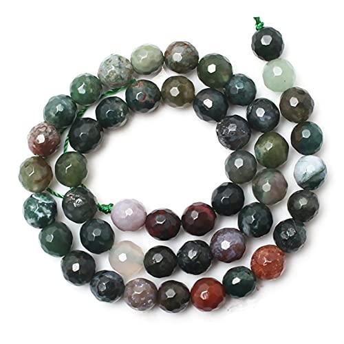 Cuentas de Piedra, Cuentas de Piedra Natural Agates Indios facetados Cuentas Sueltas Redondas para la fabricación de Joyas de 15