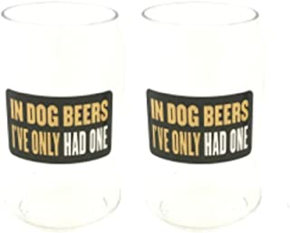 2 Pack In Dog Beers I've Only Had One Man Can 16oz.