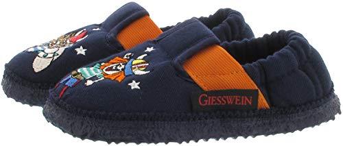 GIESSWEIN Jungen-Hausschuhe Auhagen - Leichte Pantoffeln aus Baumwolle, Sommer Barfuß-Schuhe für Kinder, rutschfeste Kindergarten-Schuhe Jungs