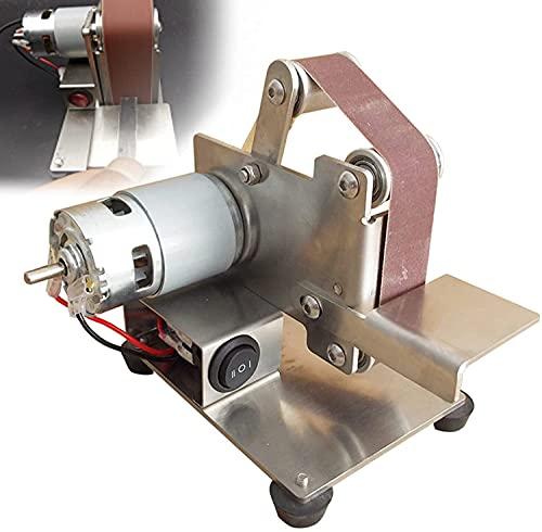 EPYFFJH Linders de cinturón eléctrico, molinillo de cinturón en miniatura, pulido, amoladora...