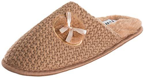 Brandsseller Pantoffels voor dames, met hartjes, pluche, warm, knuffelbaar, antislip slip