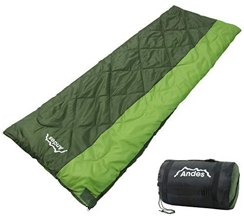 Andes Grande 4 Season Convertible Quad Layer 700g Envelope Camping Sleeping Bag, Single