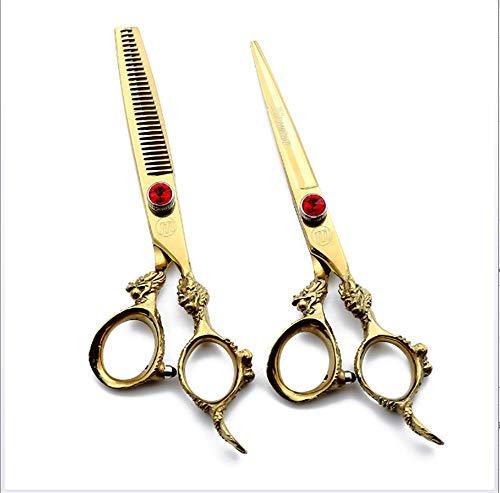 Professionele Kapper Schaar, 6 Inch Haar Nagelschaar/Tandschaar voor Kapper Salon Scheermes Edge Japans Roestvrij Staal,Flat scissors