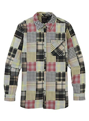 Burton Womens Grace Premium Flannel, Aqua Gray Patchwork, X-Large