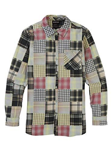 Burton Womens Grace Premium Flannel, Aqua Gray Patchwork, Medium