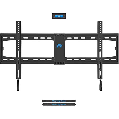 "Mounting Dream TV Wall Mount TV Bracket for Most 42-70 Inches LED, LCD Plasma Flat Screen TV, TV Mount with VESA Up to 800X400mm, Fits 8"", 12"", 16', 18', 24', 32"" Stud, 132LBS, Low Profile MD2361-32"