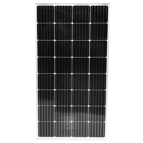 Panel Monocristalino | 50 100 130 150 165 W, con Cable y Conector MC4 | Cargador Fotovoltaico de Baterías de 12V, Módulo de Células de Silicio, Placa Solar para Jardín y Caravana (150W)