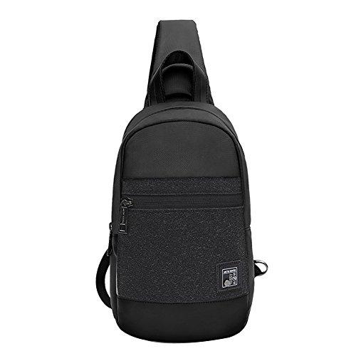 Cross Body Backpack - Arctic Hunter Sling Chest Bag for Men, Waterproof Shoulder Bags for Walking, Travelling, Cycling 060BK