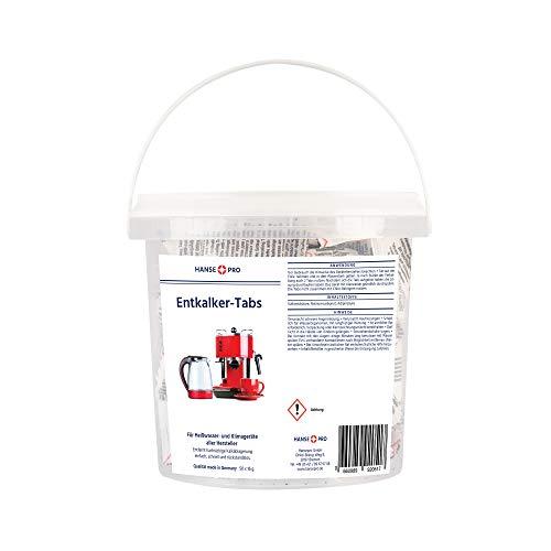 Hansepro Entkalker-Tabs, 1 x 50 Stück I Entkalkungstabletten I Universal-Entkalker I Kalklöser I für Kaffee-Vollautomaten, Kaffee-Maschinen, Wasserkocher