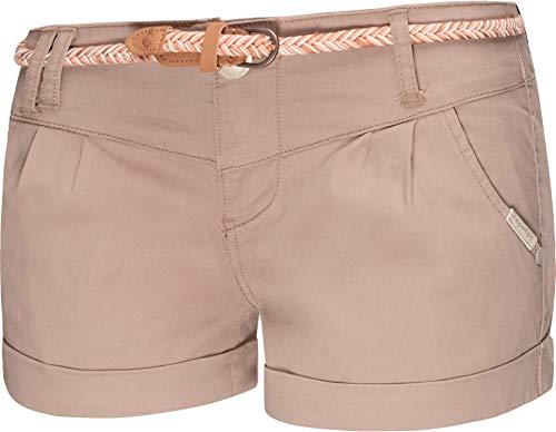 Ragwear Damen Kurze Hose Bermuda Shorts Hotpants Sommerhose Heaven B Beige20 Gr. 28