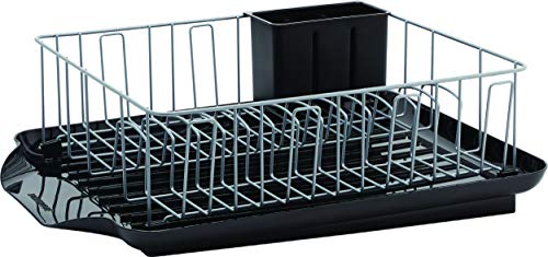 Farberware Classic 3-Piece Dish Rack, 20-Inch-by-15-Inch, Black
