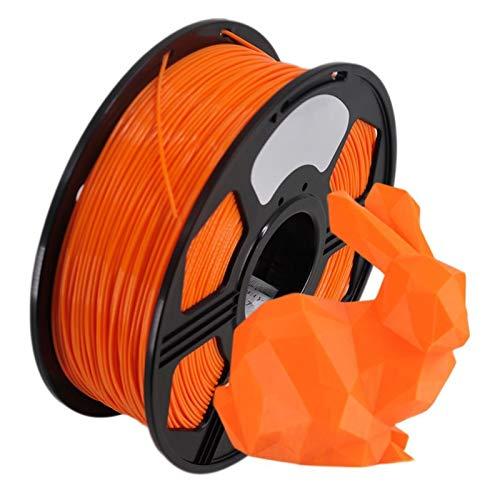 Orange PLA Filament Wire, Plastic PLA 1kg 1.75mm, 3D Printer Filament, 3D Printing Material, Excellent Toughness, Non-Toxic
