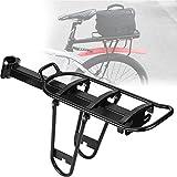lahomie Estante trasero para bicicleta, soporte para asiento de bicicleta, alforjas de bicicleta, soporte para equipaje al aire libre, aleación de aluminio