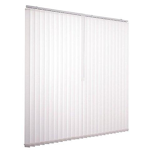 Ventanara Lamellenvorhang weiß Vertikaljalousie 89mm inklusive Montagematerial 200 x 180 cm