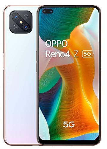 OPPO Reno 4Z 5G – Pantalla de 6.57' ( LCD, 8GB + 128GB, MTK 800 5G, 4000mAh, Android 10) Blanco [Versión ES/PT]