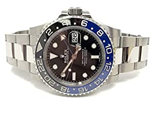 Rolex GMT Master II Black Dial Stainless Steel Mens Watch 116710BLNR image