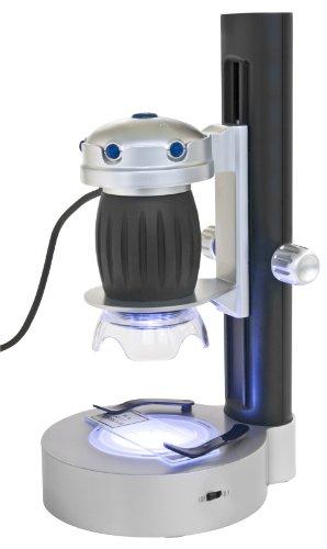 Bresser junior USB Mikroskop mit Halterung 1.3 Megapixel, 20x/200x Vergrößerung Auflicht/Durchlicht