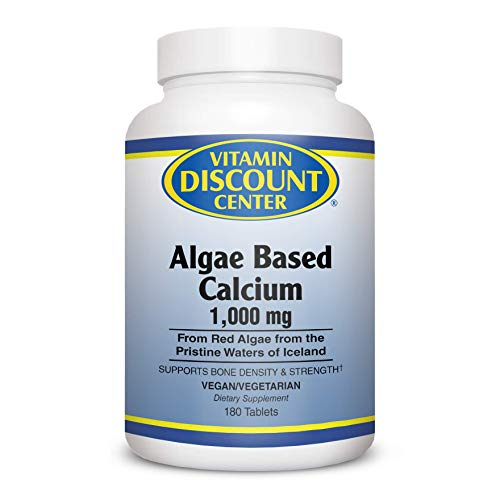 Vitamin Discount Center Algae Based Calcium, 180 Tablets
