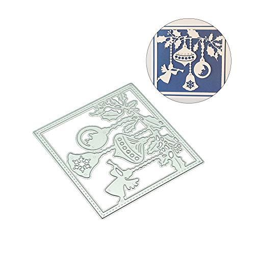 zmigrapddn DIY Papierstanzschablone, DIY Scrapbooking Metall Stanzform Weihnachtsengel Papier Basteln Prägung Schablone, Silber