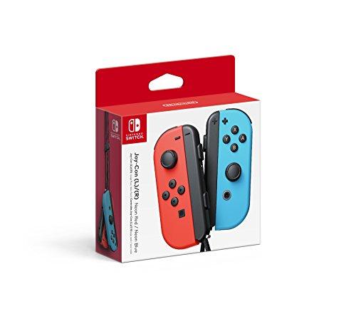 Controles Joy-Con Izquierdo y Derecho para Nintendo Switch, color Rojo/Azul Neón – Standard Edition