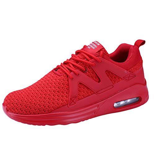 Schuhe Herren Sneaker | Holeider Laufschuhe Mode | Sportschuhe Turnschuhe Freizeitschuhe Atmungsaktiv Bequem Fitnessschuhe für Männer Schuhe Outdoor Mesh Air Cushion