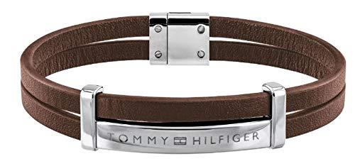 Tommy Hilfiger Men's Jewelry Leather ID Bracelet Color: brown (Model: 2790076)