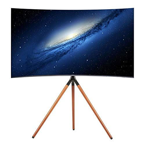 Aludest Easel Tripod TV Floor Stand Height Adjustable Studio Mount for 45 to 65 inch Flat Panel LED LCD Plasma Screens Portable Display Art Scaffold