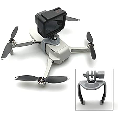 Extended Adapter Mount Bracket Holder for DJI Mavic Mini / Mavic Mini 2 Drone 1/4 Screw for insta360 Action Camera for GoPro 8 7 5 Accessories