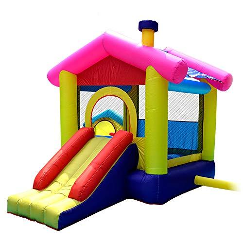 TXOZ-Q Inflable Castillo Inflable de Diapositivas casa de la Despedida, Trampolín de los niños con el Ventilador, Apto for Jugar al Aire Libre y Entretenimiento Familiar Infantil Jardín de Niños (320