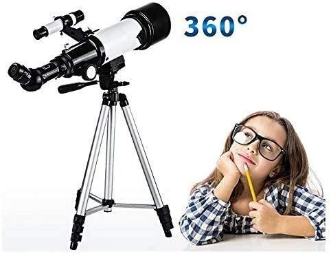 TOMSSL Astronomie Monocular-Teleskop, Profi Stargazing Refraktor Teleskop for Kinder Und Anfänger, Mit Super-leichtem Stativ Spielzeug
