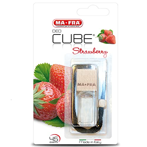 Ma-Fra Mafra, Deo Cube Strawberry, Profumatore per Auto Piccoli Ambienti