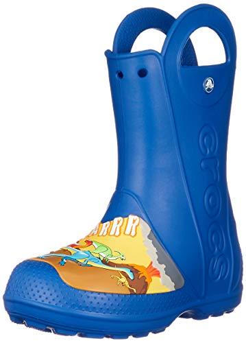crocs Jungen Unisex-Kinder Crocsfl Dino Rain Boot K Gummistiefel, Blau (Blue Jeans 4gx), 23/24 EU